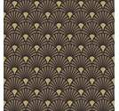 Napkin 25 Art Deco Black Gold