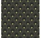Napkin 33 Art Deco Black Gold**