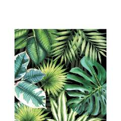 Napkin Kaffe Tropical Leaves Black