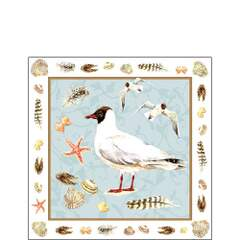 Napkin Kaffe Black Headed Gull Blue