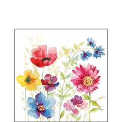 Napkin Kaffe Aquarell Meadow