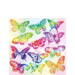 Napkin Kaffe Aquarell Butterflies Mix