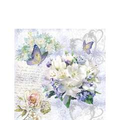 Napkin 25 Flower Love