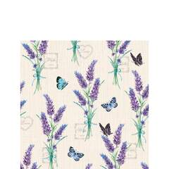 Napkin Kaffe Lavender With Love Cream