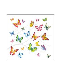 Napkin 25 Colorful Butterflies