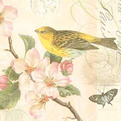 Napkin Lunsj Bird And Blossom
