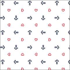 Napkin 33 Anchor Heart White
