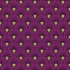Napkin 33 Art Deco Berry Gold