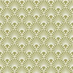 Napkin 33 Art Deco Gold White