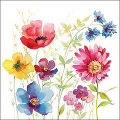 Napkin 33 Aquarell Meadow @