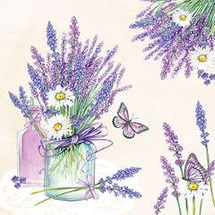Napkin 33 Lavender Jar Cream
