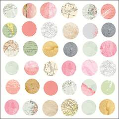 Napkin 33 Maps In Circles