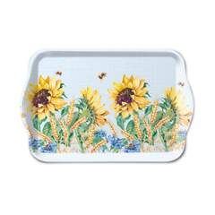 Tray Melamine 13X21cm Sunflower And Wheat Blue