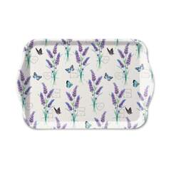 Tray Melamine 13X21cm Lavender With Love