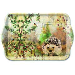 Tray Melamine 13X21cm Autumn Hedgehog