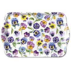 Tray Melamine 13X21cm Pansy All Over