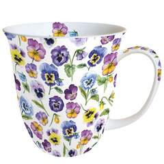 Mug 0.4 L Pansy All Over