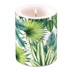 Candle Big Tropical Leaves