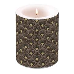 Candle Big Art Deco Black Gold