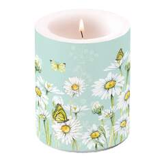 Candle Big Daisy Green