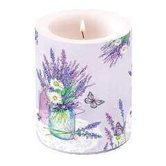 Candle Big Lavender Jar Lilac