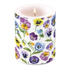 Candle Big Pansy All Over