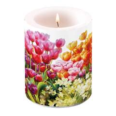 Candle Big Tulips