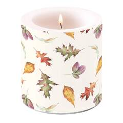Candle Small Falling Leaves