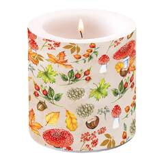 Candle Small Autumn Pattern