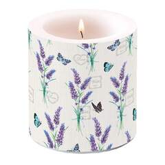 Candle Small Lavender With Love Cream