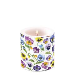 Candle Small Pansy All Over