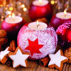 Napkin Lunsj Star On Candle