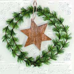 Napkin Lunsj Wreath And Star