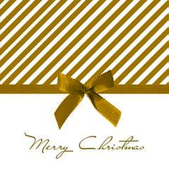 Napkin Lunsj Christmas Bow Gold