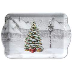Tray Melamine 15X23cm Tree On Square