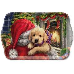 Tray Melamine 13X21cm Puppy At Fire