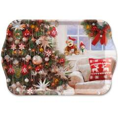 Tray Melamine 13X21cm Ready For X-Mas
