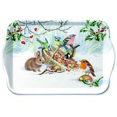 Tray Melamine 13X21cm Winter Treat