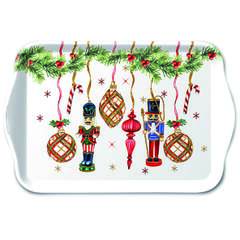 Tray Melamine 13X21cm Nutcrackers Decoration