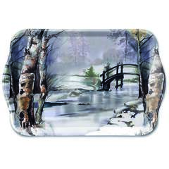 Tray Melamine 13X21cm It's Wintertime