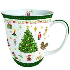 Mug 0.4 L Christmas Evergreen White
