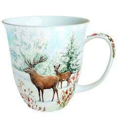 Mug 0.4 L Deer In Snow