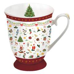 Mug 0.25 L Ornaments All Over Red