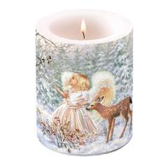 Candle Big Winter Angel